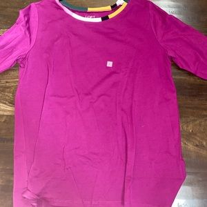 Loft long sleeve large tee NWT